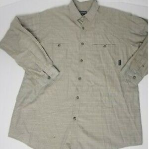 Patagonia Men's Brown Long Sleeve Button Up Shirt